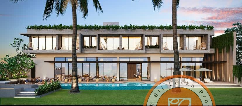 Perfect beach plot with upmarket boutique hotel plan