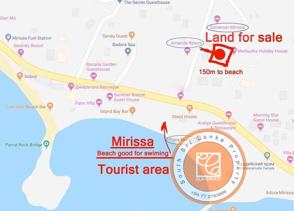Buildable Land in Super- popular Mirissa – Great Value for Money